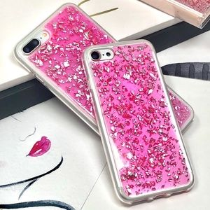 Accessories - iPhone Pink Glitter Foil Flakes Case